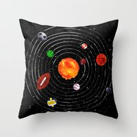 sports Throw Pillows featuring Solar Sports by Naomi Batts