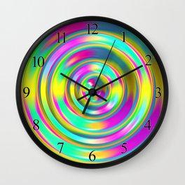 Pastel Swirl Wall Clock