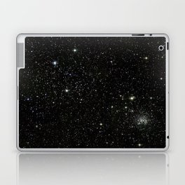Universe Space Stars Planets Galaxy Black and White Laptop & iPad Skin