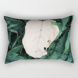 Nature Walk 001 - White Leaf Rectangular Pillow