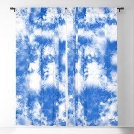 Blue Tie Dye & Batik Blackout Curtain