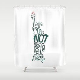 Don't Be Clueless Shower Curtain