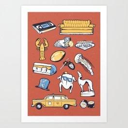 FRIENDS TV SHOW // Tattoo Flash Poster // New York Art Print