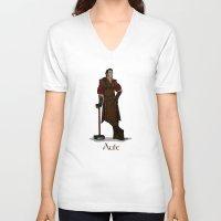 valar morghulis V-neck T-shirts featuring Aule by wolfanita