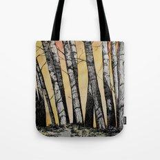 Row of Trees Tote Bag