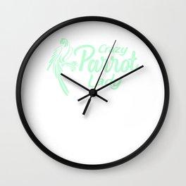 Crazy Parrot Lady mi Wall Clock