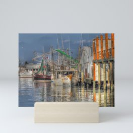 Galveston Shrimp Boats Mini Art Print