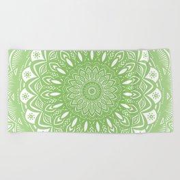 Light Lime Green Mandala Simple Minimal Minimalistic Beach Towel