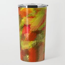 red yellow and brown painting texture abstract background Travel Mug