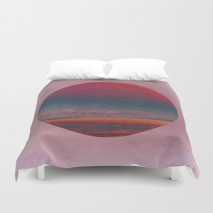 Coloring the Colour in the Sea Duvet Cover