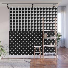 Black and white polka dot .3 Wall Mural