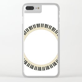 Pianom Keys Circle Clear iPhone Case