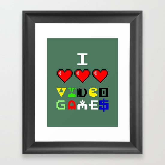 I 3 up video games Framed Art Print