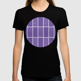Vector polka dot repeat pattern design in rectangular grid T-shirt