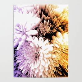 Mums abstract with shades of purple and gold Poster