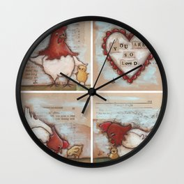 You Are So Loved Chickens - by Diane Duda Wall Clock