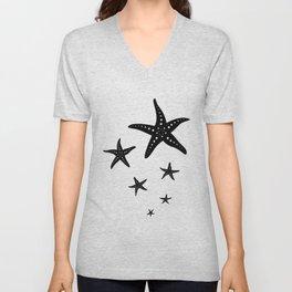 Minimal Starfishes Unisex V-Neck