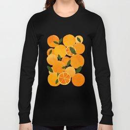 mediterranean oranges still life  Long Sleeve T-shirt