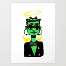 SupaGreen Art Print