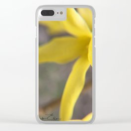 Forsythia Clear iPhone Case