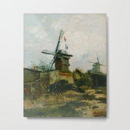 Vincent van Gogh - Windmills on Montmartre Metal Print