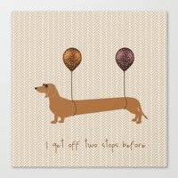 dachshund Canvas Prints featuring Dachshund by My Studio