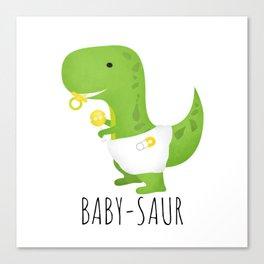 Baby-saur Canvas Print