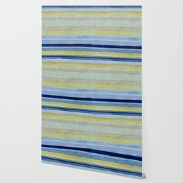 Colorbands Daylight Blue and Yellow Wallpaper