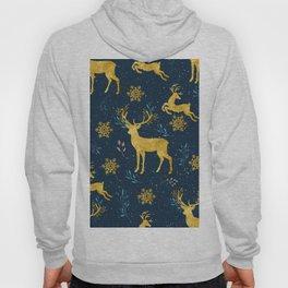 Golden Reindeer Hoody