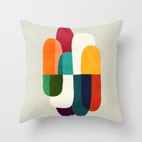 the cure Throw Pillows featuring The Cure For Sleep by Picomodi