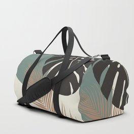 Minimal Monstera Palm Finesse #1 #tropical #decor #art #society6 Duffle Bag
