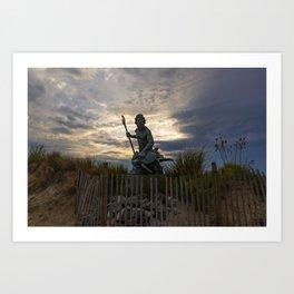 Statue of Neptune in Cape Charles Art Print
