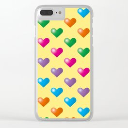 Hearts_F02 Clear iPhone Case