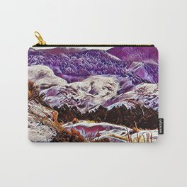 Winter Purple Pink Hills by CheyAnne Sexton Carry-All Pouch