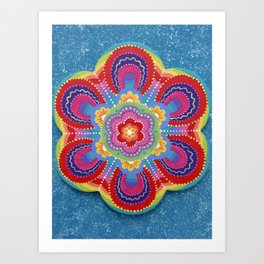 Colour Therapy Flower Mandala Art Print
