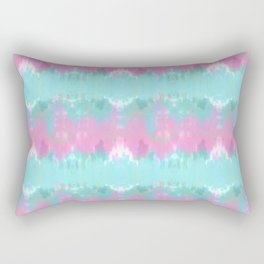 Summer Vibes Tie Dye in Cotton Candy Rectangular Pillow