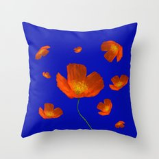 Poppies in th sun Throw Pillow