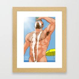 Beer time Framed Art Print