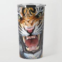 Tiger Roaring Wild Jungle Animal Travel Mug
