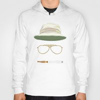 fear and loathing Hoodies featuring Movie Icons: Fear and Loathing in Las Vegas by Raquel Sanchis
