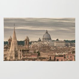 Rome Aerial View From Monte Pincio Terrace Rug