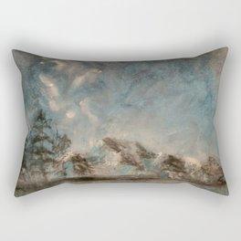 Winter Mountains Rectangular Pillow