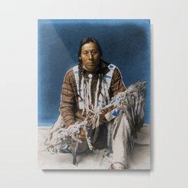 A medicine pipe - Blackfoot - American Indian Metal Print