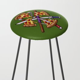 Ninja Pizza Counter Stool