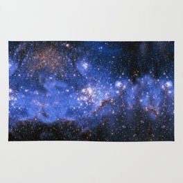 Blue Embrionic Stars Rug