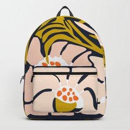 Backyard flower – modern floral illustration Backpack