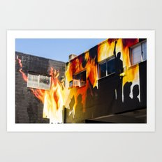 Flames on the Wall - Street Art Vancouver BC Art Print