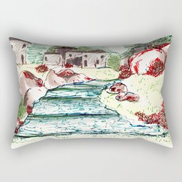 Rocky Path Rectangular Pillow