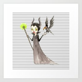 Maleficent and Diaval Art Print
