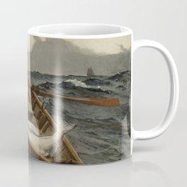 The Fog Warning / Halibut Fishing by Winslow Homer Coffee Mug